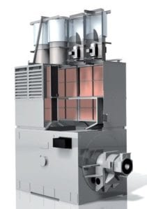 Cut of an Avantair, which is an advanced air-to-air cooler designed and manufactured by Sterling Thermal Technology