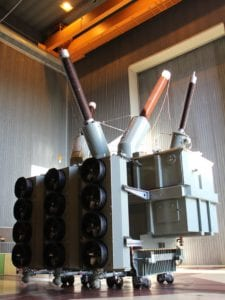transformer oil coolers manufactured by Sterling Thermal Technology to keep a colossal power plant cool in desert conditions
