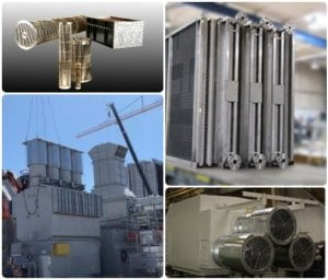 Square collage of coolers and heat exchangers supplied by Sterling Thermal Technology