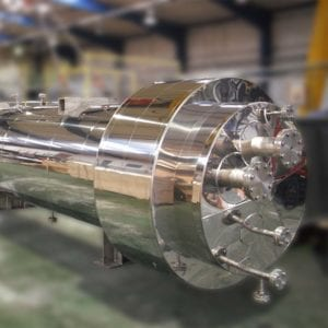 Heat exchanger, shell and tube designed and manufactured by Sterling Thermal Technology